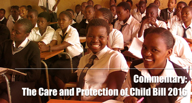 The Care and Protection of Child Bill 2016
