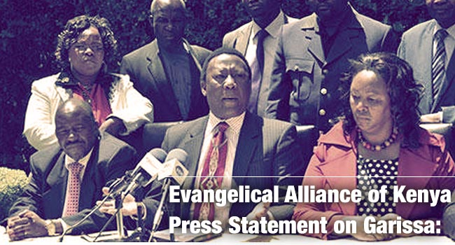 EVANGELICAL ALLIANCE OF KENYA (EAK) PRESS RELEASE ON GARISSA