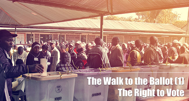 The Walk To The Ballot 1: Right To Vote